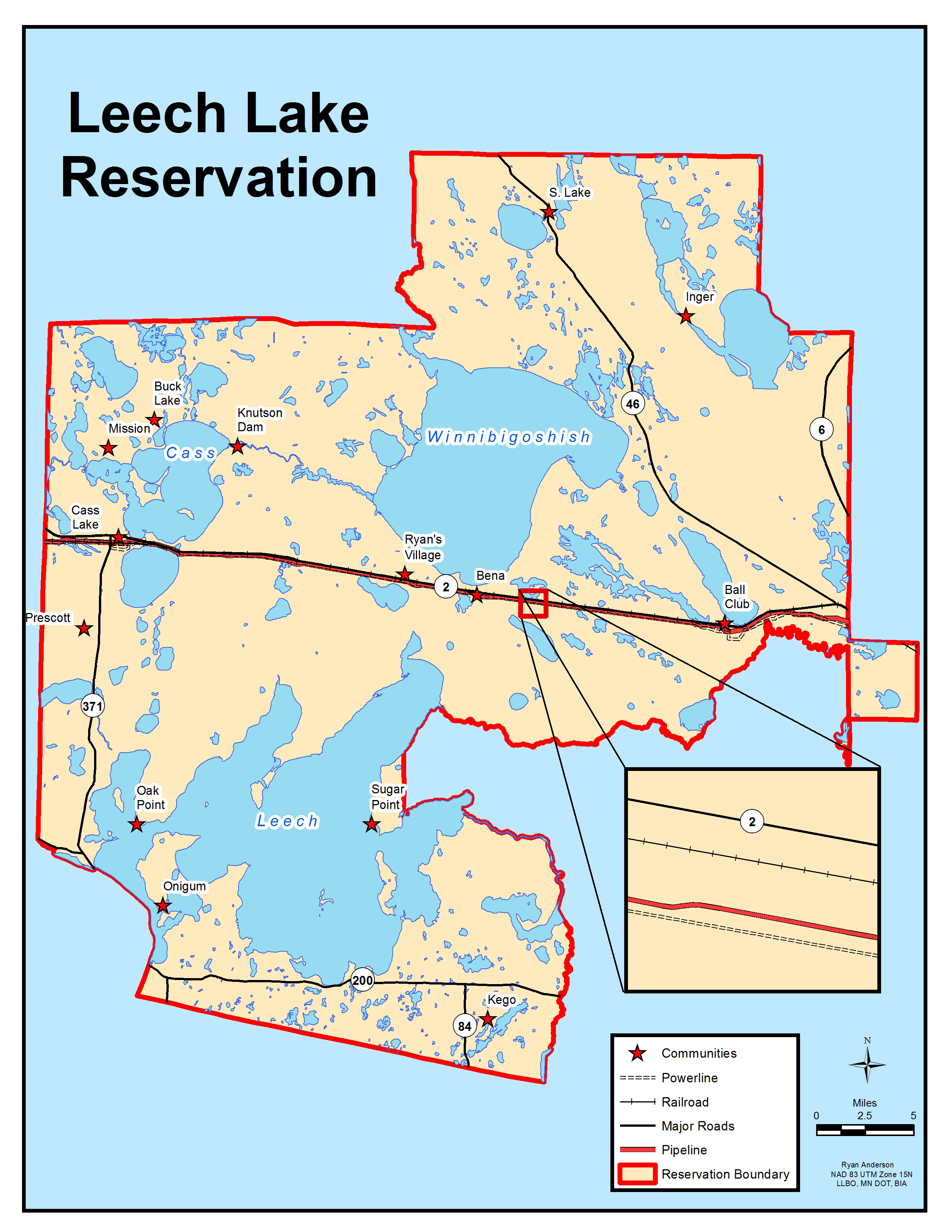 Maps leech lake reservation map sciox Image collections